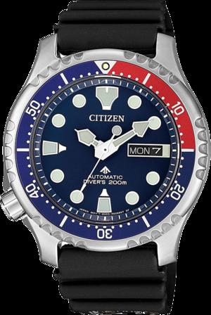 Herrenuhr Citizen Promaster Marine Automatik mit blauem Zifferblatt und Urethanarmband