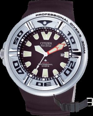 Herrenuhr Citizen Promaster Marine mit schwarzem Zifferblatt und Kunststoffarmband