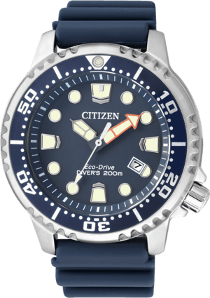 Herrenuhr Citizen Promaster Marine mit blauem Zifferblatt und Kautschukarmband
