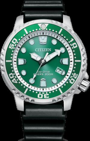 Herrenuhr Citizen Promaster Marine mit grünem Zifferblatt und Kautschukarmband