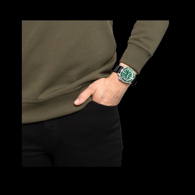 Herrenuhr Citizen Promaster Marine mit grünem Zifferblatt und Kautschukarmband bei Brogle