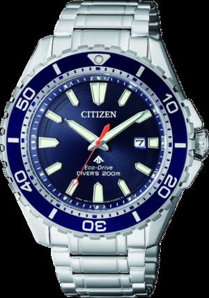 Herrenuhr Citizen Promaster Marine mit blauem Zifferblatt und Edelstahlarmband