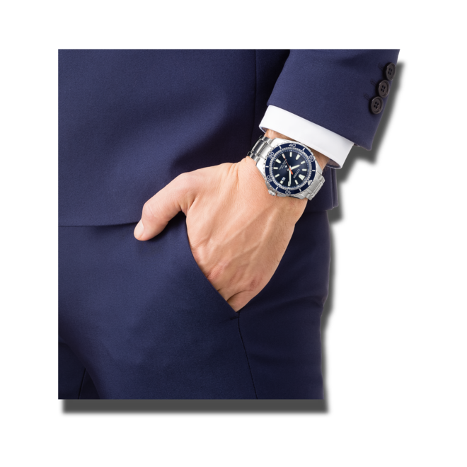Herrenuhr Citizen Promaster Marine mit blauem Zifferblatt und Edelstahlarmband bei Brogle