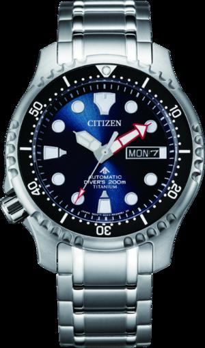 Herrenuhr Citizen Promaster Marine Diver mit blauem Zifferblatt und Titaniumarmband