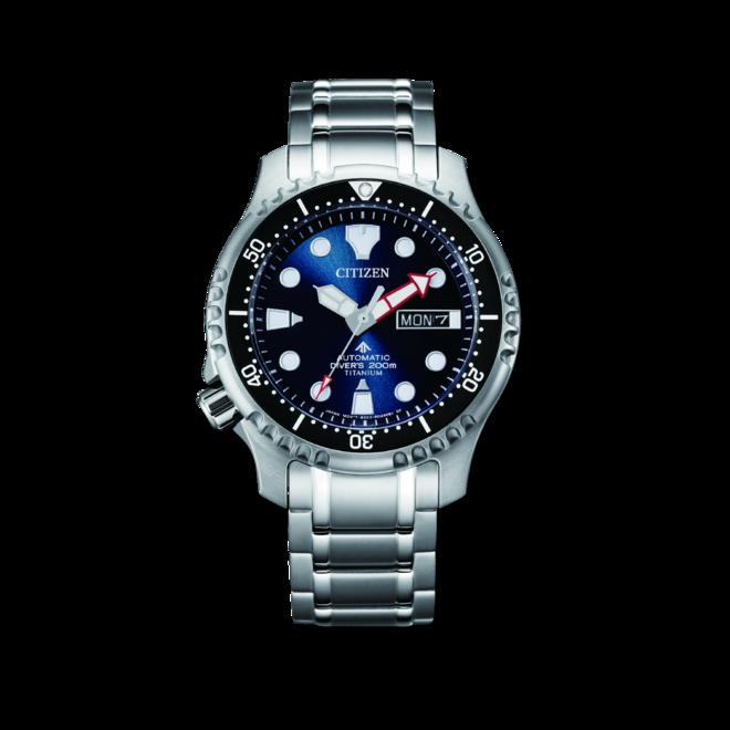 Herrenuhr Citizen Promaster Marine Diver mit blauem Zifferblatt und Titaniumarmband bei Brogle