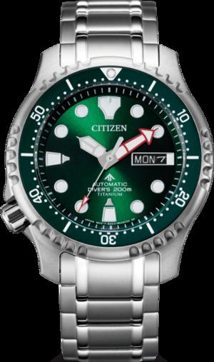 Herrenuhr Citizen Promaster Marine Diver mit grünem Zifferblatt und Titaniumarmband
