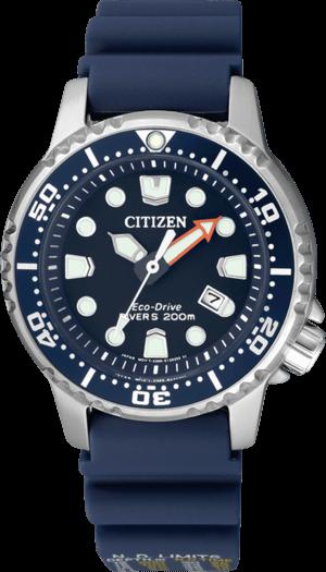 Damenuhr Citizen Promaster Marine mit blauem Zifferblatt und Kautschukarmband