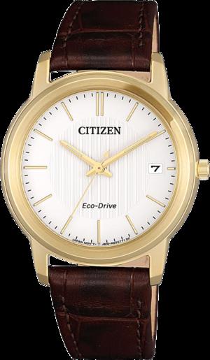 Damenuhr Citizen Eco-Drive mit weißem Zifferblatt und Kalbsleder-Armband