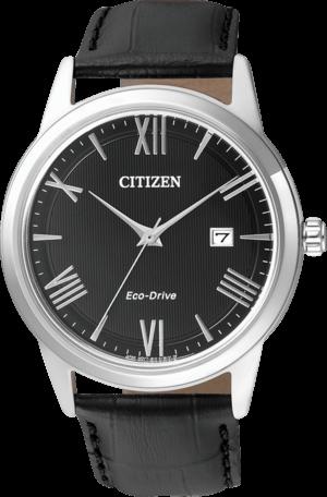 Herrenuhr Citizen Sport Herren mit schwarzem Zifferblatt und Kalbsleder-Armband