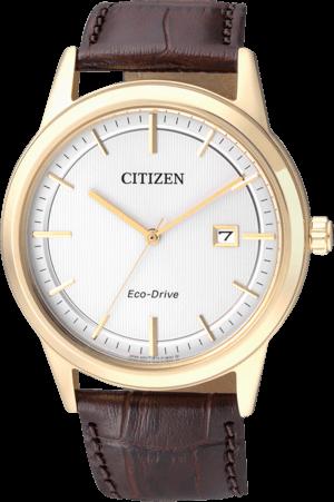 Herrenuhr Citizen Sport Herren mit weißem Zifferblatt und Kalbsleder-Armband