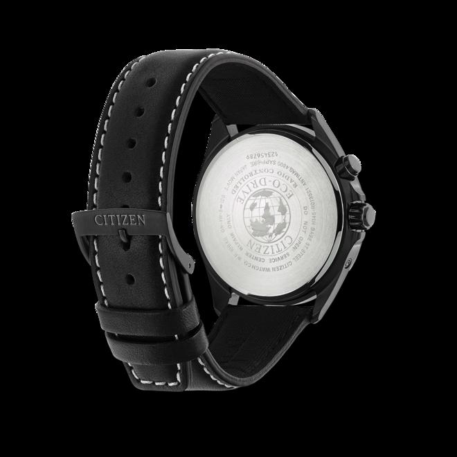 Herrenuhr Citizen Sport Quarz 42mm mit schwarzem Zifferblatt und Kalbsleder-Armband bei Brogle