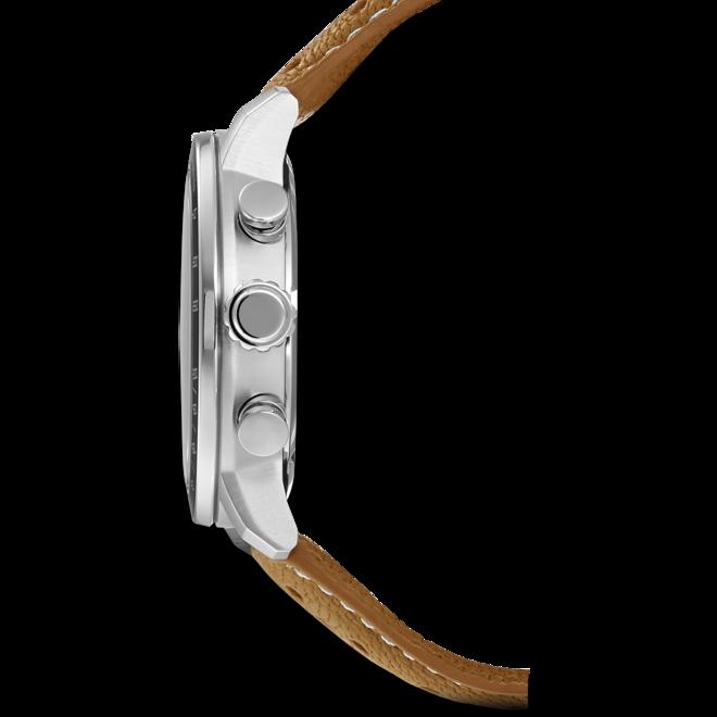 Herrenuhr Citizen Sport Quarz Chronograph 44mm mit cremefarbenem Zifferblatt und Kalbsleder-Armband bei Brogle