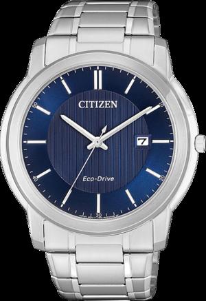 Herrenuhr Citizen Sports Eco Drive mit blauem Zifferblatt und Edelstahlarmband