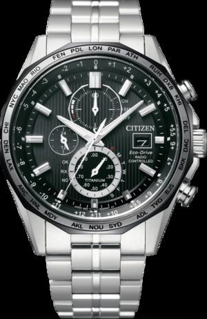 Herrenuhr Citizen Super Titanium 44mm mit schwarzem Zifferblatt und Titaniumarmband