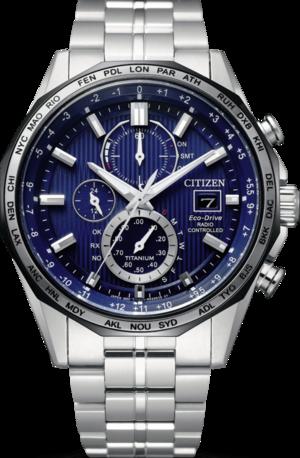 Herrenuhr Citizen Super Titanium 44mm mit blauem Zifferblatt und Titaniumarmband