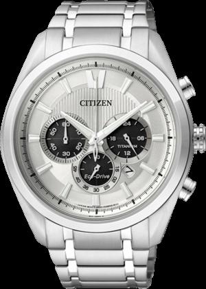 Herrenuhr Citizen Super Titanium Chrono mit silberfarbenem Zifferblatt und Titaniumarmband
