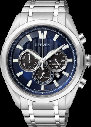 Herrenuhr Citizen Super Titanium Chrono mit blauem Zifferblatt und Titaniumarmband