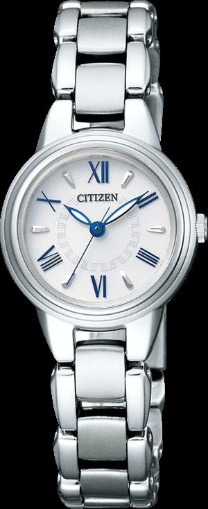 Damenuhr Citizen Super Titanium Damen mit weißem Zifferblatt und Titanarmband