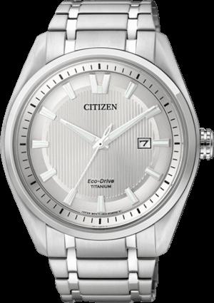 Herrenuhr Citizen Super Titanium Herren mit silberfarbenem Zifferblatt und Titaniumarmband