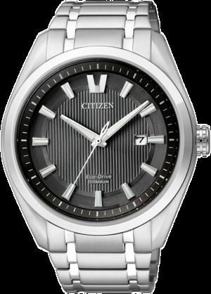 Herrenuhr Citizen Super Titanium Herren mit grauem Zifferblatt und Titaniumarmband
