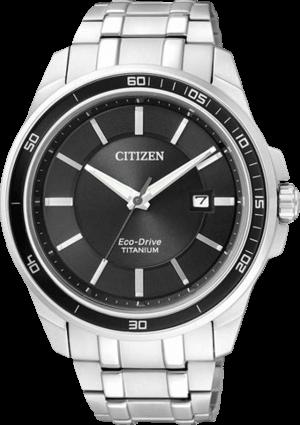 Herrenuhr Citizen Super Titanium Herren mit schwarzem Zifferblatt und Titaniumarmband