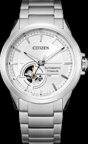 Herrenuhr Citizen Super Titanium Open Heart 41mm mit weißem Zifferblatt und Titaniumarmband