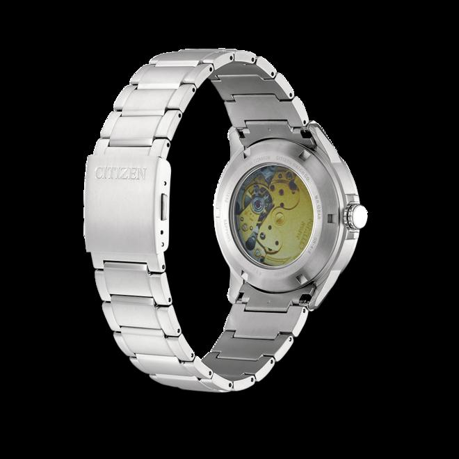 Herrenuhr Citizen Super Titanium Open Heart 41mm mit weißem Zifferblatt und Titaniumarmband bei Brogle