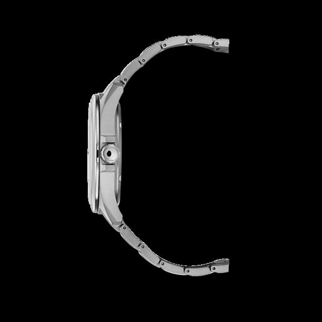 Herrenuhr Citizen Super Titanium Quarz 43mm mit schwarzem Zifferblatt und Titaniumarmband bei Brogle