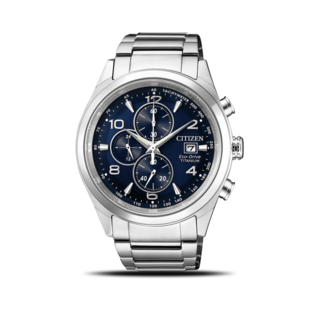 Citizen Herrenuhr Super Titanium Quarz Chronograph 42,5mm CA0650-82L