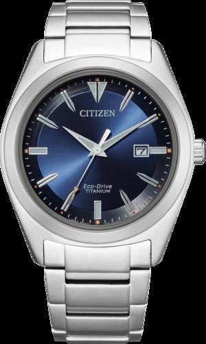Herrenuhr Citizen Super Titanium Solar 41,5mm mit blauem Zifferblatt und Titaniumarmband
