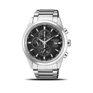 Citizen Herrenuhr Super Titanium Solar Chronograph 42,5mm CA0650-82F