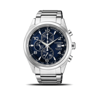Citizen Herrenuhr Super Titanium Solar Chronograph 42,5mm CA0650-82L