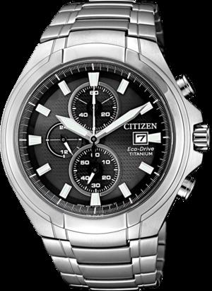 Herrenuhr Citizen Super Titanium mit grauem Zifferblatt und Titaniumarmband
