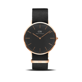 Daniel Wellington Herrenuhr Classic Black Cornwall DW00100148