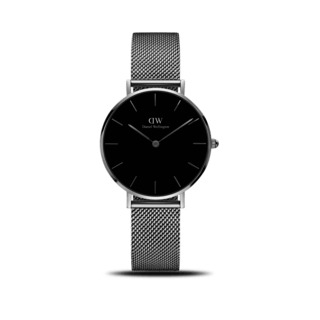 Daniel Wellington Damenuhr Classic Black Petite Sterling DW00100162