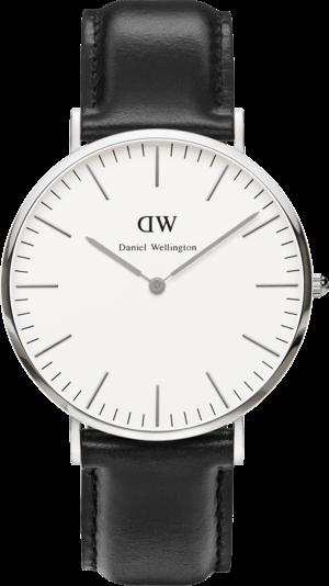 Herrenuhr Daniel Wellington Classic Sheffield mit elfenbeinfarbenem Zifferblatt und Kalbsleder-Armband