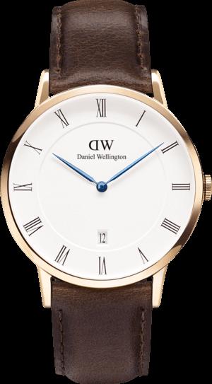 Herrenuhr Daniel Wellington Dapper Bristol mit weißem Zifferblatt und Kalbsleder-Armband