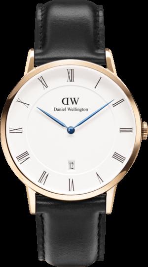 Herrenuhr Daniel Wellington Dapper Sheffield mit weißem Zifferblatt und Kalbsleder-Armband