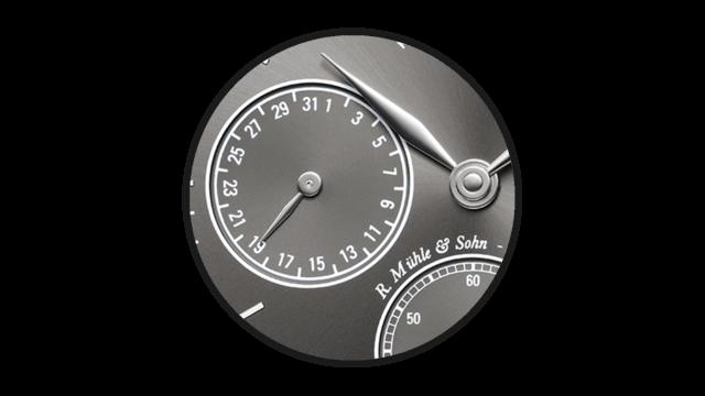 Das Zeigerdatum der Mühle Glashütte Uhr