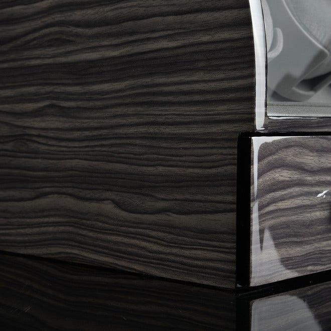 Uhrenbeweger Designhütte Basel 2 LCD - Dark Oak aus Holz/MDF bei Brogle