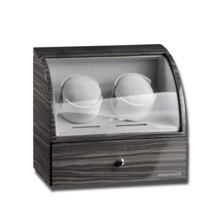 Designhütte Uhrenbeweger Basel 2 LCD - Dark Oak 70005-36