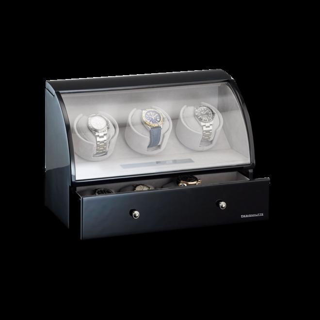 Uhrenbeweger Designhütte Uhrenbeweger Basel 3 LCD aus Holz/MDF bei Brogle