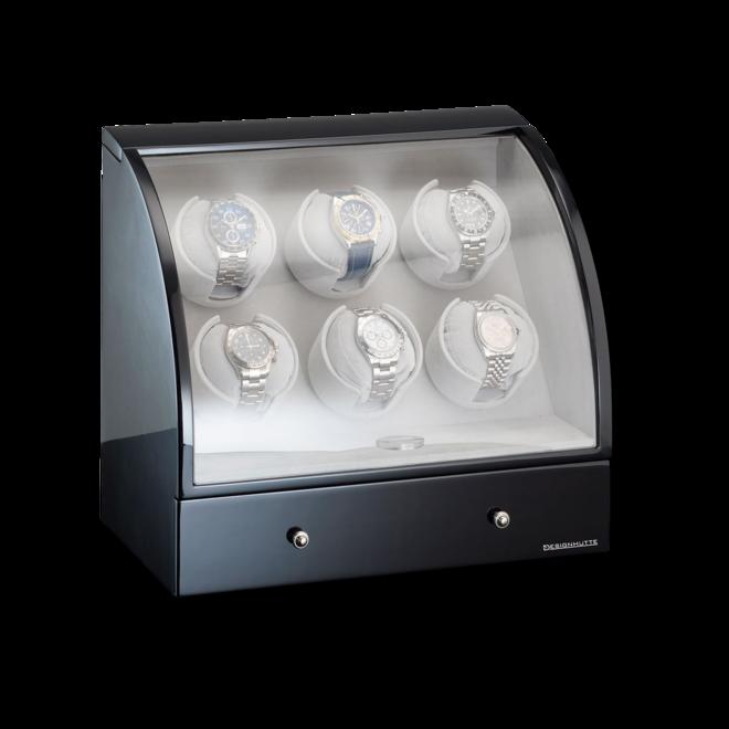 Uhrenbeweger Designhütte Uhrenbeweger Basel 6 LCD aus Holz/MDF bei Brogle