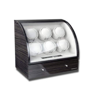 Designhütte Uhrenbeweger Uhrenbeweger Basel 6 LCD - Dark Oak 70005-34