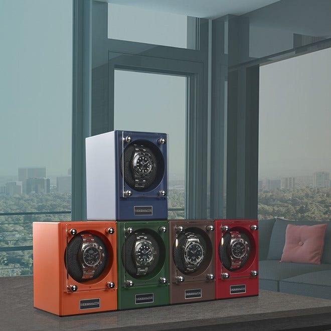 Uhrenbeweger Designhütte Uhrenbeweger Piccolo 2er Set - Coral aus Kunststoff und Carbon bei Brogle