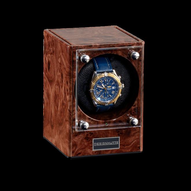 Uhrenbeweger Designhütte Uhrenbeweger Piccolo aus Wurzelholz und Kunststoff bei Brogle