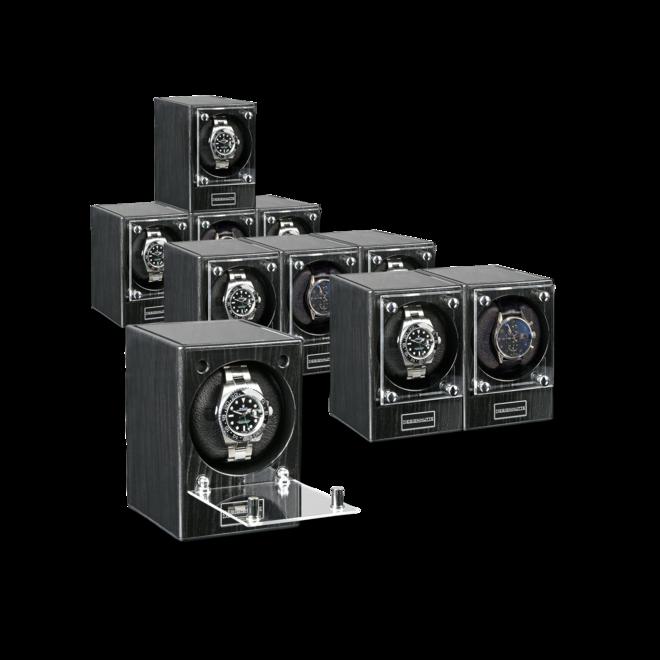 Uhrenbeweger Designhütte Uhrenbeweger Piccolo - Dark Ebony (ohne Netzteil) aus Kunststoff bei Brogle