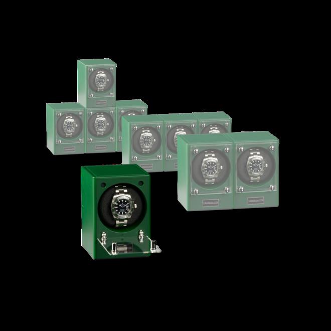 Uhrenbeweger Designhütte Uhrenbeweger Piccolo - Jade (ohne Netzteil) aus Kunststoff und Carbon bei Brogle