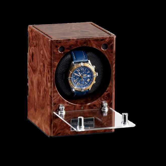Uhrenbeweger Designhütte Uhrenbeweger Piccolo Starter Set aus Wurzelholz und Kunststoff bei Brogle