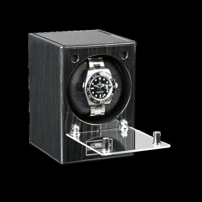 Uhrenbeweger Designhütte Uhrenbeweger Piccolo Starter Set aus Ebenholz und Kunststoff bei Brogle